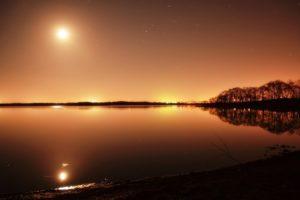 ウトナイ湖の夜景