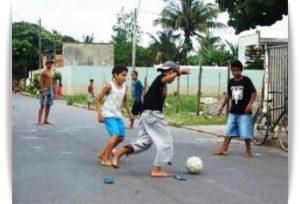 ブラジルのストリートサッカー