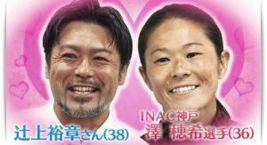 澤穂希と辻上裕章の結婚