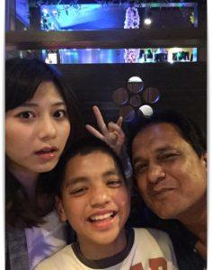 菊池梨沙の家族写真