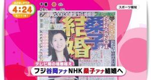 桑子真帆アナと谷岡慎一の結婚発表