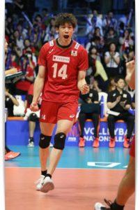 石川祐希選手のヨッシャー画像
