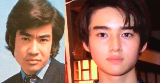 藤岡弘と藤岡真威人の顔画像比較