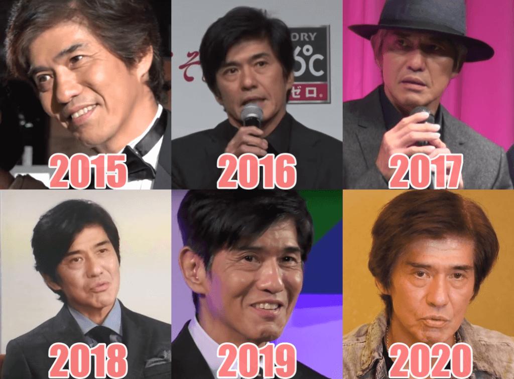 佐藤浩市2015年からの顔比較画像